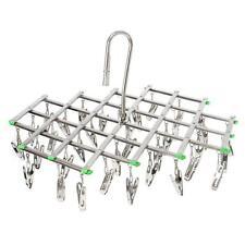 Stainless Steel Laundry Drying Rack 35 Clips Folding Underwear Bra Sock Hanger