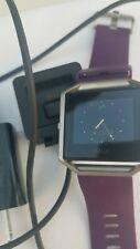 Fitbit Blaze Smart Fitness Watch Purple Fit Bit Used Pre Owned !!