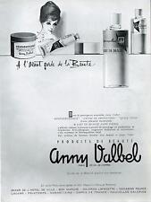 ▬► PUBLICITE ADVERTISING AD Produits de beauté Anny Valbel 1960
