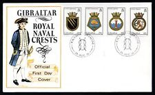 1986 Gibraltar FDC Naval Crests 5th Series - Military Theme