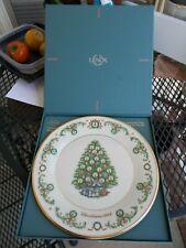 Lenox 1992 Christmas Trees Around the World Plate, France, w/ Box. Vgc