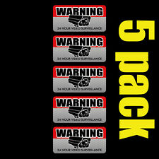5 Pack VIDEO SURVEILLANCE Security Burglar Alarm Decal Warning Vinyl Stickers