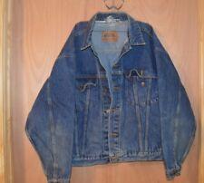 Vintage Classic Jeanswear Unisex Bikers Trucker Denim Jean Jacket (6208)