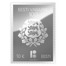 Estland Estonia silver stamp 2018 - Centenary of the Republic of Estonia