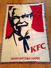 RARE KFC Kentucky Fried Chicken Colonel Sanders Promotional Restaurant Blanket