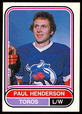 1975 76 OPC O PEE CHEE WHA 42 PAUL HENDERSON NM TORONTO TOROS LEAFS HOCKEY