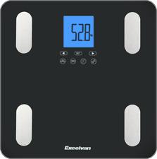 Excelvan Pèse-Personne Balance Poids corporel BMI lipides eau calories Muscle FR