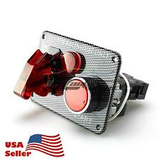 Racing Car 12V Ignition Switch Engine Start Push Button LED Toggle Panel ES02