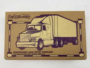 New Ertl Collectibles White Gmc Cab with Trailer  Free Shipping