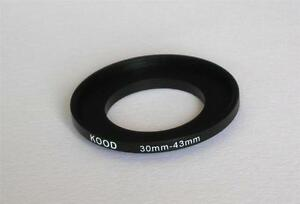 STEP UP ADAPTER 30MM-43MM STEPPING RING 30MM TO 43MM 30-43 FILTER ADAPTER