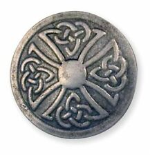 "Celtic Stamped Steel Concho Round 1"" (2.5 cm) Tandy Leather 71506-04"