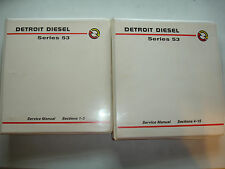 EC Detroit Diesel Engine Series 53 Factory Service Shop Manual Set Gen / Marine