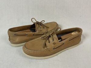 Sperry Topsider Authentic Original Oatmeal Leather Boat Shoe 13 W 2 Eye 0197632
