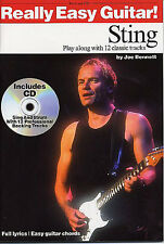 Sting EASY GUITAR Music Book TAB Learn Play The Police