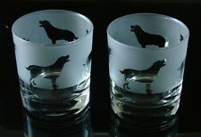 Labrador Dog Whisky Glasses by Glass in the Forest...BOXED
