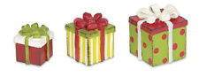 Genevieve Gail Gypsy Garden Christmas Miniatures Mini Packages Gifts Set of 3