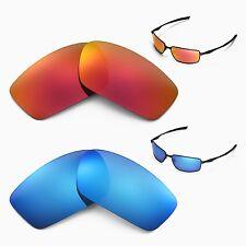 New Walleva Polarized Fire Red + Ice Blue Lenses For Oakley Splinter Sunglasses