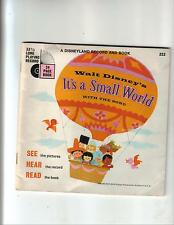 Walt Disney's It's a Small World---24 p book & 33 1/3 record---pb---