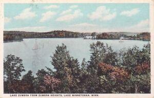 G2301 MN, Lake Minnetonka Lake Zumbra Postcard