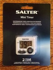 SALTER MINI TIMER MAGNETIC OR SELF STANDING 99 MIN 59 SECS LOUD BEEPER