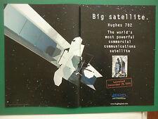 2/2000 PUB HUGHES SPACE COMMUNICATIONS HUGHES 702 SATELLITE SPACE ORIGINAL AD