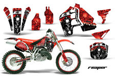 Graphics Kit MX Decal Wrap + # Plates For Honda CR500 CR 500 1989-2001 REAPER R