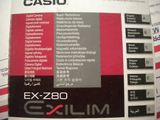 CASIO EX-Z80 BASIC MANUAL IN ENGLISH AND  ALL KINDS OF OTHER LANGUAGES