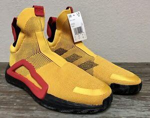 Adidas Next Level Basketball Shoes Casual Orange No Laces NWT F36292 Size 13