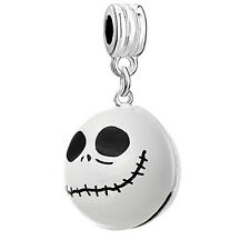Nightmare Before Christmas Halloween Skull Bell/Pendant Charm Bead for European
