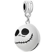 Nightmare Before Christmas Halloween Skull Bell/Pendant Charm Bead for European