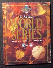 1993 WORLD SERIES Official Souvenor Scorebook VF- 7.5 Blue Jays vs Phillies
