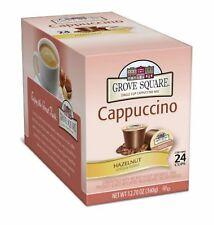 Grove Square Hazelnut Cappuccino 24 Single Serve Cup Keurig K-cups