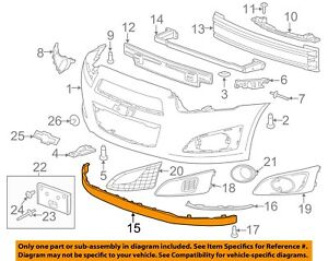 Chevrolet GM OEM 12-16 Sonic Front Bumper Grille-Lower Deflector 96694779