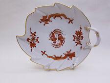Meissen Feuilles en forme de manipulés plat Dragon rouge bordure dorée croisés sowrd 320510 1176