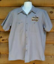 Miller Genuine Draft Work Delivery Driver Shirt Mens XL Gray