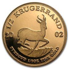 2002 South Africa 1/2 oz Proof Gold Krugerrand - SKU #45919