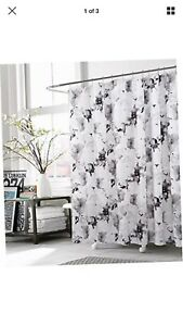 KENSIE - Halle Floral Fabric Shower Curtain Liner Water Resistant 72 x 72 In NEW