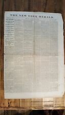 HISTORIC June 8, 1865 The New York Herald Civil War Era Newspaper