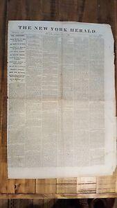 HISTORIC June 8, 1865 The New York Herald Civil War Era Newspaper