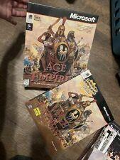 Vintage Game NOS Age Of Empires 1.0 PC Big Box CD-ROM NEW SEALED - Windows 95/98