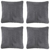 Pack Of 4 Plush Sherpa Teddy Bear Fleece Super Soft Filled Cushion Cover 18x18
