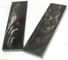 2 Buffalo Streaked Horn Knife Scales 6x1.75x3/8 Knife Grips Horn Eyeglass Frames