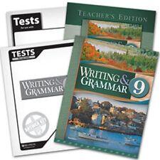 BJU Press- Writing & Grammar 9 Subject Kit
