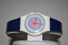 Vintage Swatch Watch LW-107 RASPBERRY 1985 Swiss Ladies Quartz Plastic Classic