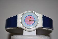 Vintage Swatch Watch LW-107 RASPBERRY 1985 Swiss Ladies Quartz Plastic Classic