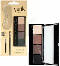 Yurily EYEBROW KIT Palette Set Brow Powders Highlighter Stencils Brush & Comb