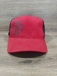 West Coast Choppers Trucker Hat Cap Mesh Snapback Adjustable Red Black
