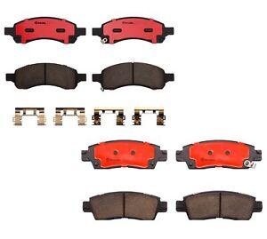 Front Rear Brembo Brake Pad Set Kit For Buick Rainer Chevy Trailblazer GMC Envoy
