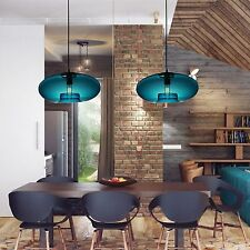 Modern Blue Glass Chandelier Pandent Lamp Buld Included Painting Ceiling Light