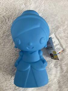 Disney Princess Emoji blue Silicone Pencil Case 20x11x10cm sweet item